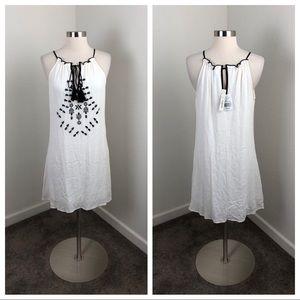 NEW Speechless white crochet tassel dress